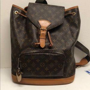 Louis Vuitton montsouris vintage back pack